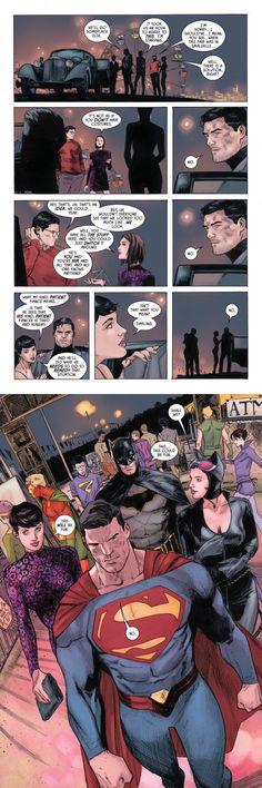 Batman (2016-) #37 - 'Date Night' | I didn't know I needed Batman and Superman swapping costumes until it happened #batman #catwoman #superman #loislane #dccomics #batcat #superbat #superfriends #datenight