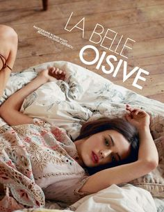 """La Belle Oisive"" Sibui Nazarenko for ELLE France April 2015"
