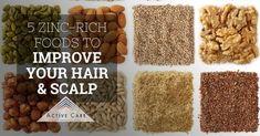 5 Zinc-Rich Foods to Improve Your Hair & Scalp Zinc Rich Fruits, Zinc Rich Foods, Yummy Snacks, Snack Recipes, Baked Chicken Legs, Zinc Deficiency, Decadent Food, Christmas Ham, Savory Salads