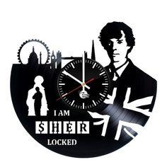 Sherlok Handmade Vinyl Record Wall Clock Fan Gift - VINYL CLOCKS