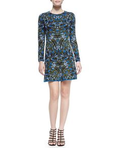 Marble Jacquard Long-Sleeve Dress  by M. Missoni at Neiman Marcus.