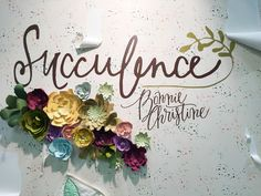 DIY Paper Flowers with the Silhouette CAMEO | Succulence Fabrics by Bonnie Christine