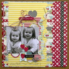 Layout by Leslie Ashe using Lily Bee Design Sweet Shoppe  #scrapbook #lilybee #lilybeedesign