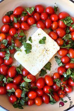 Feta Cheese Recipes, Pasta Recipes, Dinner Recipes, Cooking Recipes, Tomato Pasta Bake, Feta Pasta, Side Dishes Easy, Side Dish Recipes, Main Dishes