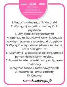 Jak posprzątać łazienkę krok po kroku? – CoOnaKombinuje.pl Self Organization, Brain Dump, Organize Your Life, Home Hacks, Clean Up, Declutter, Good To Know, Hand Lettering, Diy And Crafts
