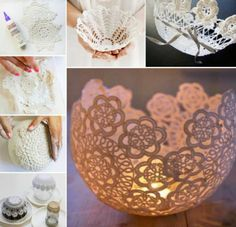 Doily Bowls Crafts Easy Video Tutorial