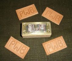 DIY Leather embossing stamp.