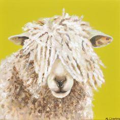 Sally Acrylic on canvas 40x40cm £175