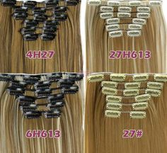 """Clip-In Hair Extensions - Straight 160 Grams of Hair 10 Pcs, 22"""""""
