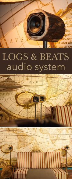 Upgrade your audio system with logs! Diy Projects Engineering, Diy Projects For Men, Beats Audio, Wooden Speakers, Workshop, Wooden Crafts, Audio System, House In The Woods, Computer