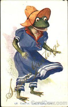marinni | Лягушки - старинные открытки и иллюстрации.