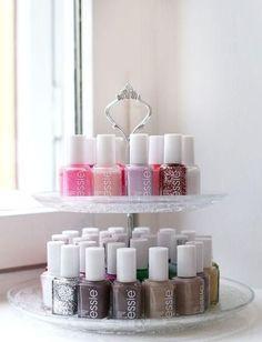 nail polish stand Make Up Organizer, Make Up Storage, Storage Hacks, Storage Organizers, Smart Storage, Diy Storage, Storage Room, Tool Storage, Beauty Storage Ideas
