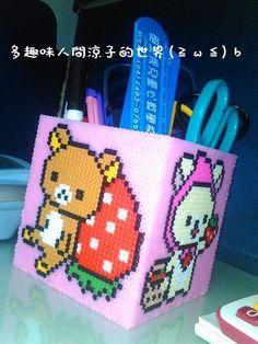 Rilakkuma pencil holder perler beads
