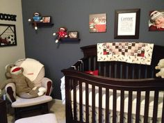 wall paint ideas for kids room decorated in sock monkey | Project For: Connor Age: 7 weeks Location: St. Louis MO Description: