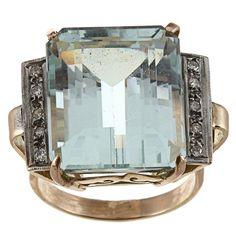 aquamarine vintage ring