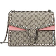 Gucci Dionysus Gg Supreme Shoulder Bag With Crystals ($3,655) ❤ liked on Polyvore featuring bags, handbags, shoulder bags, women, gucci shoulder bag, gucci handbags, hand bags, handbag purse and shoulder hand bags