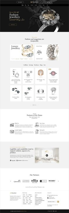 Royalistic is creative and luxury style responsive multipurpose #WordPress theme for stunning #Jewellery shop #eCommerce website with 25+ niche homepage layouts download now➩  http://www.onlinestoreideas.com/