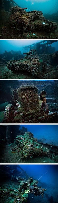 Truk Lagoon in Micronesia is a treasure trove of Japanese vehicles and equipment sunk during World War Two