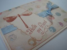 Handmade Thinking of You Stamped Greeting Card by wkburden on Etsy, $1.99