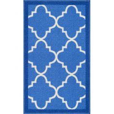 Charlton Home Addieville Blue Area Rug Rug Size: