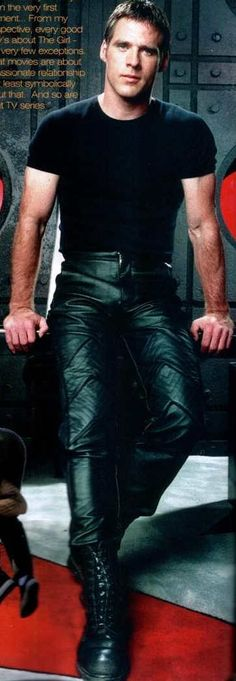 Ben Browder...because I needed another pic to gaze at! also leather pants. nom