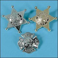 Police Badges, Firefighter Badges, Badge Assortments, Favors