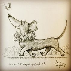 Reminds me of some dachshunds I know!