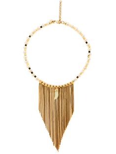 Iosselliani Fringed Pearl & Jade Necklace In Gold/pearl Jade Necklace, Tassel Necklace, Necklaces, Iosselliani, Gold Pearl, Brass, Pearls, Bracelets, Metal