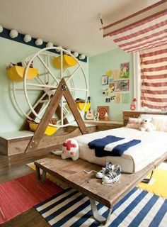 Love this idea for kids room.