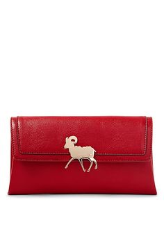 Celebrate Chinese New Year in style with the Lucky Sheep Envelope Clutch. A sleek, compact style with back and interior pockets