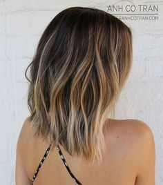 Straight Haircut with Subtle Waves - I love the stay and colour