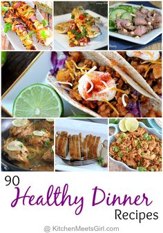 Whether you are counting calories or just trying to make better choices, we have rounded up 90 Healthy Dinner Recipes to make your goals easier! Healthy Family Meals, Healthy Cooking, Healthy Dinner Recipes, Healthy Snacks, Healthy Eating, Cooking Recipes, Healthy Dinners, Vegaterian Recipes, Whole30 Recipes