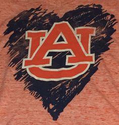 Auburn Tigers Women's Xtra Small XS Short Sleeve Tee T-Shirt I1 #UniversityT #AuburnTigers