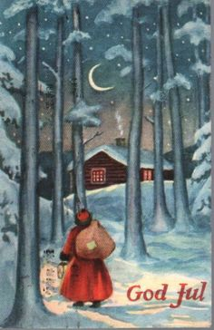 Lillo-Stenberg Merry Christmas And Happy New Year, Christmas Elf, Vintage Christmas, Christmas Cards, Norwegian Christmas, Scandinavian Christmas, Red Riding Hood, Vintage Postcards, Elves