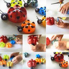 Plastic Bottle Ladybugs More