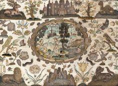 Mid 17th century needlework picture