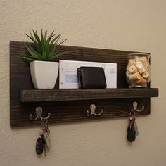 Simply Modern Rustic Entryway Shelf by KeoDecor on Etsy