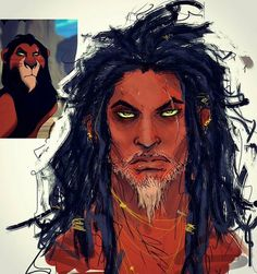 Scar, from the Disney classic, The Lion King, reimagined as human. : by <<<< This is the best humanized Scar I've ever seen. Disney Fan Art, Disney Fun, Disney Magic, Scar Lion King, Lion King Art, Disney Cartoons, Disney And Dreamworks, Disney Pixar, Disney Movies
