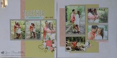 Gina's Little Corner of StampinHeaven: Hello Lovely - Engagement Layout