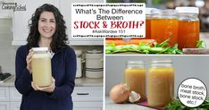 What's the difference between stock and broth? When a recipe calls for one, are you sure you're using the right thing? Is it ever important to use one, and not the other? Let's find out! Gaps Diet Recipes, Healthy Recipes, Gut Health, Health Tips, Gut Healing Diet, Healthy Life, Healthy Living, Best Meat, How To Make Cheese