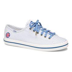 946f9bcaf5c Women s Chicago Cubs Keds White Kickstart Pinstripe Sneakers