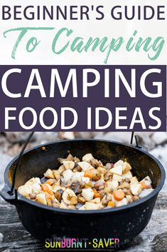 Beginner's Guide to Camping: Camping Food Ideas Are you looking for camping food ideas? Camping food doesn't have to be boring, icky, or expensive! A comprehensive list of easy, quick camping food ideas Dutch Oven Camping, Camping Stove, Camping Snacks, Camping Recipes, Camping Guide, Backpacking Recipes, Camping Cooking, Camping Cabins, Vegetarian Camping