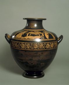 Greek (active early 6th century BC) Attic Red-figure Hydria: The Ransom of Hector, 510 BC-500 BC Vessel Greek , 6th century BC Archaic period, Late, c.600-480 BC Creation Place: Athens (Attica) Terracotta