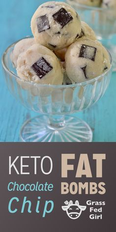 Keto Chocolate Chip Fat Bombs sugar free and paleo friendly treat.