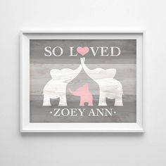 Custom wood sign baby gifts baby shower gifts wood signs elephant nursery decor custom baby name wall art elephant baby shower gift nursery name sign personalized baby girl nursery digital print negle Images
