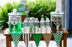 Football Themed 7th Birthday Party with Lots of Cute Ideas via Kara's Party Ideas | KarasPartyIdeas.com #SportsParty #SuperbowlParty #PartyIdeas #Supplies (20)