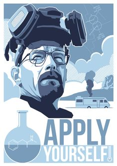Breaking Bad fan art. Poster by Paul Flanders.