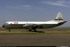 """Trans Australia Airlines (TAA) Lockheed L-188A Electra VH-TLB (cn 1069) TAA dropped the slogan """"The Nation's Jetline"""" from Electras when the airline adopted an all-new livery for its jet fleet. VH-TLB sold in 1972 as N188LB"""