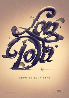 Show us your type - London by Ranko Blazina, via Behance