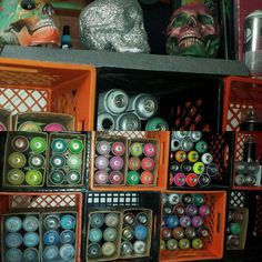 Organizational skills at the end of a paint session day OnPoint... #southpaw #painting #acrylic #stencil #stencilart #stencilism #montanagold #montanablack #mtn94 #mtnhardcore #mtncolors #montanacans #montanaacrylic  #montana_colors #mtncolors #artsupplies #artstudio #art #duality #artist #aerosolart #graffiti #streetart #gorillastyle #gak424 #CDXXIV #gorillaairkoncepts by gorilla_air_koncepts